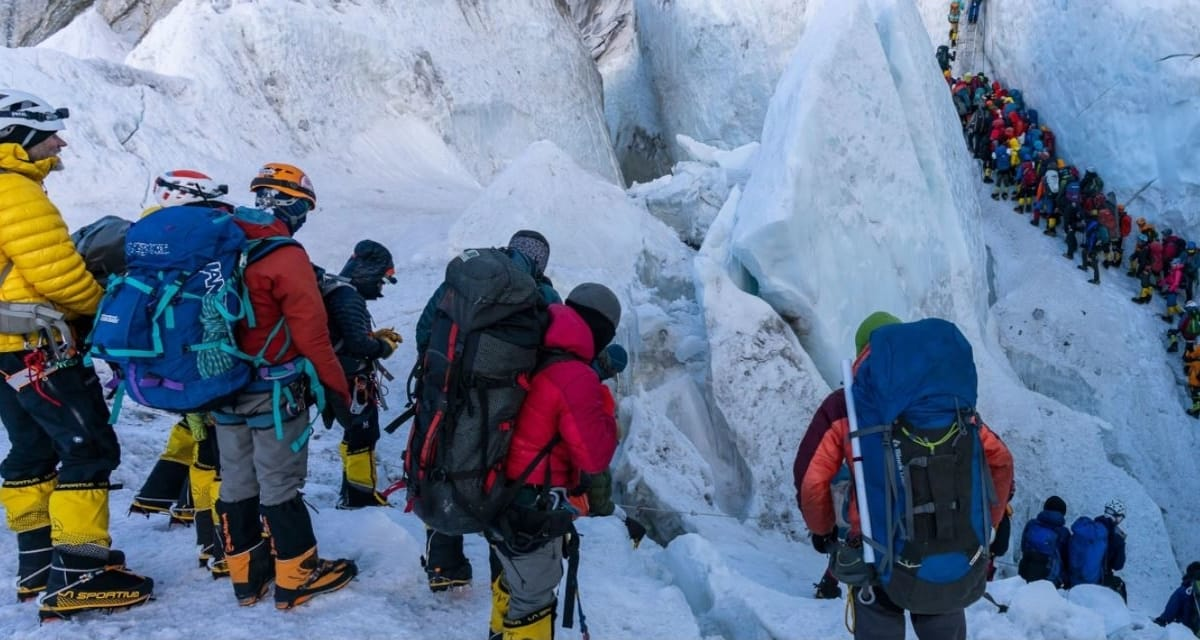 Busy Busy on Mount Everest
